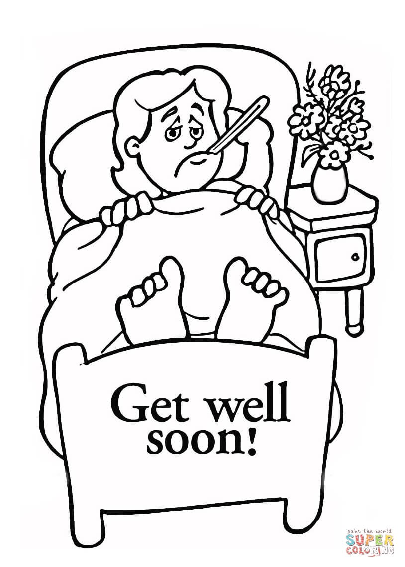 814x1140 Greatest Get Well Soon Card Coloring Pages Col
