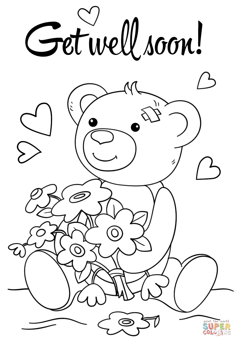 824x1186 Revealing Get Well Soon Card Coloring Pages Gr