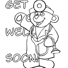 230x230 Top Free Printable Get Well Soon Coloring Pages Online Free