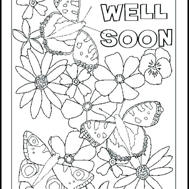 618x618 Free Get Well Coloring Pages