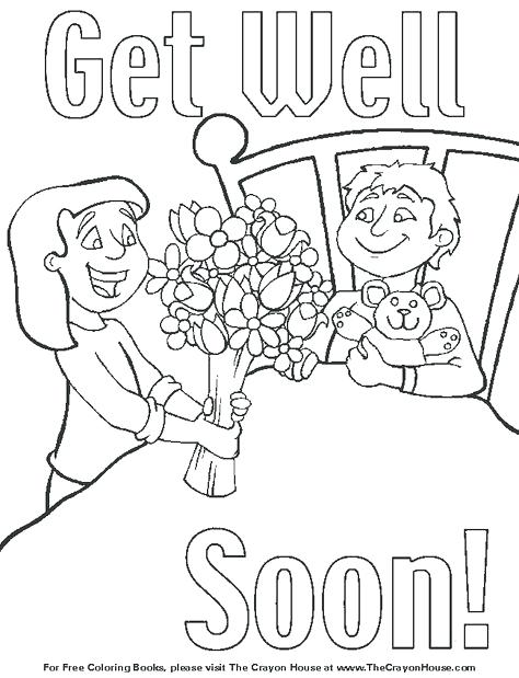 Get Well Coloring Pages At Getdrawings Com Free For Personal Use