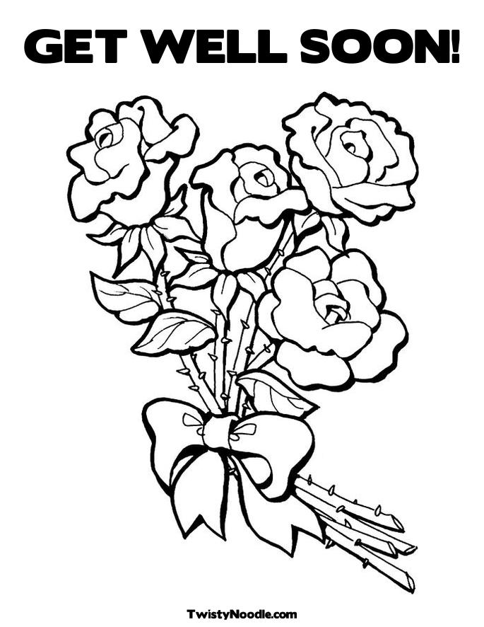 image relating to Printable Get Well Card named Take Properly Printable Coloring Webpages at  Totally free
