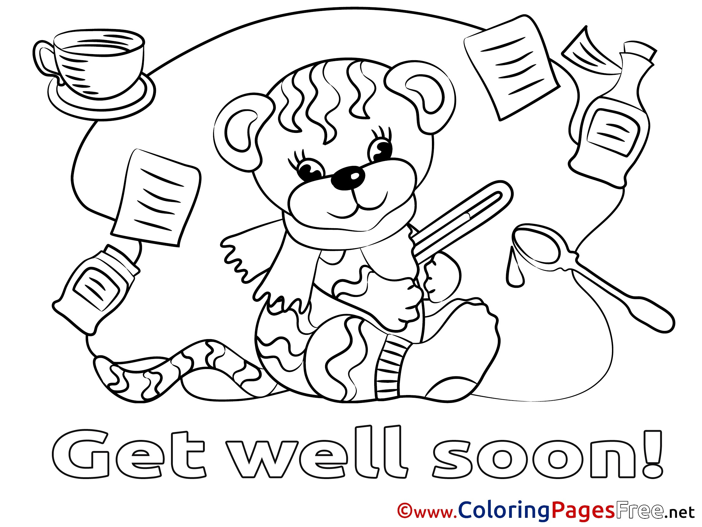 Get Well Printable Coloring Pages At Getdrawings Free Download