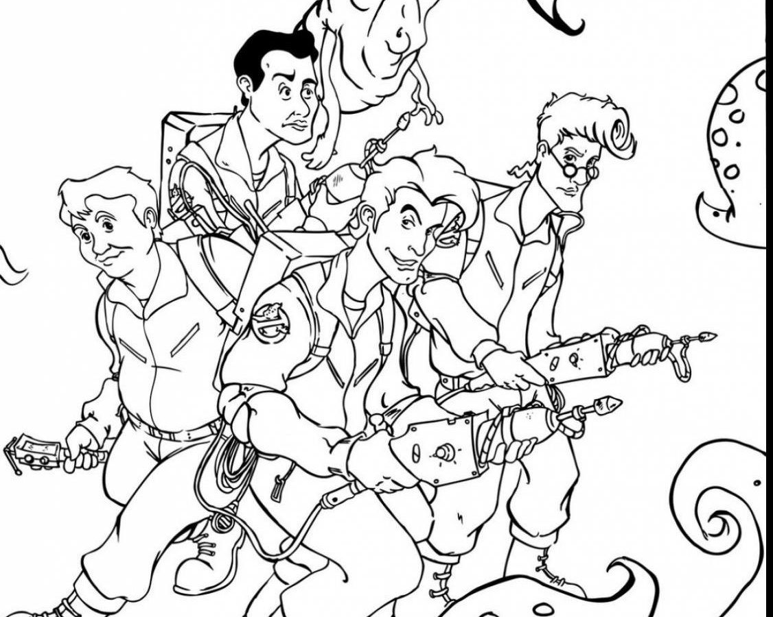 1126x900 Ghostbusters Coloring Page Pages Printable General Free Book Sheet