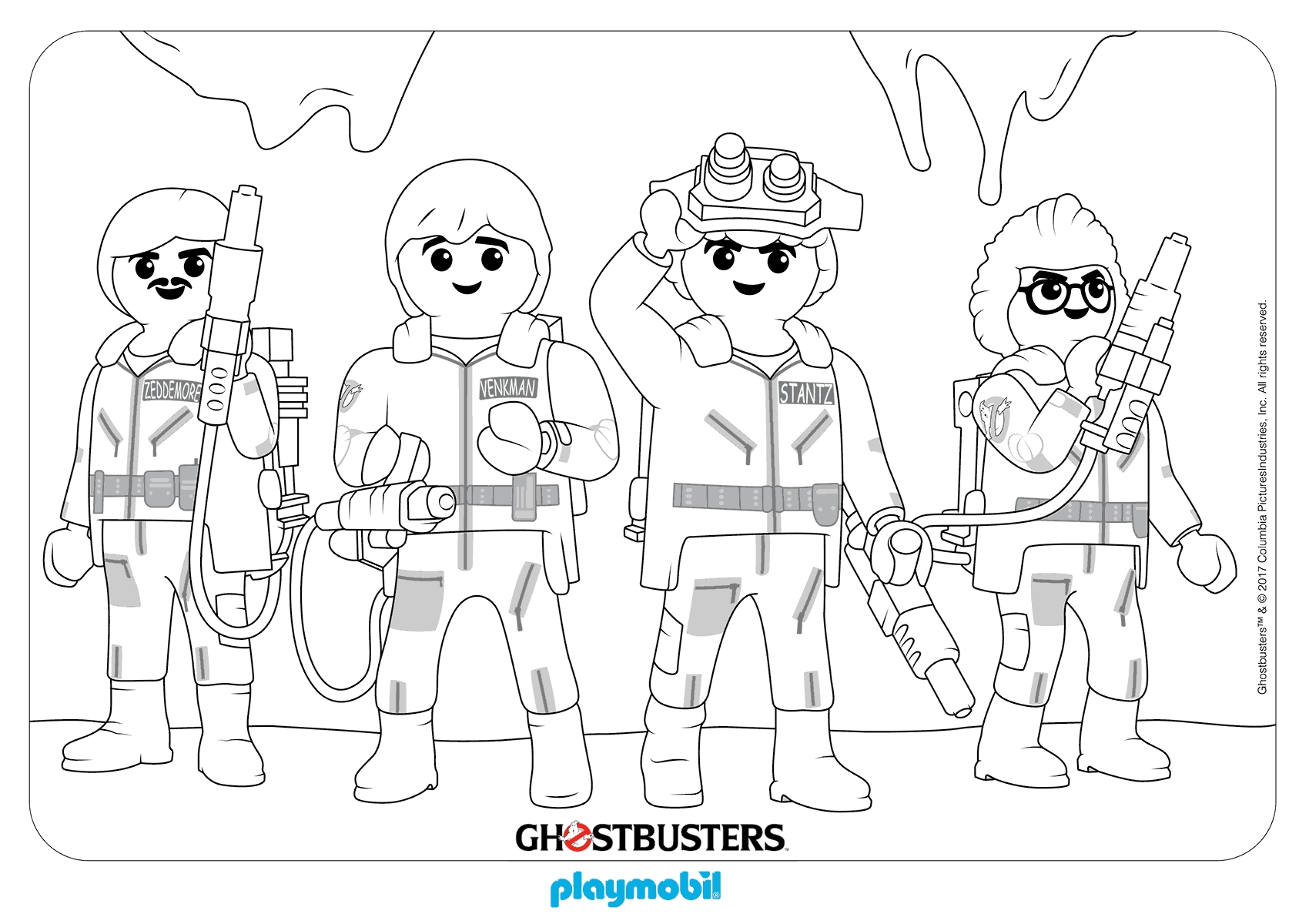 1700x1200 Ghostbusters Coloring Pages