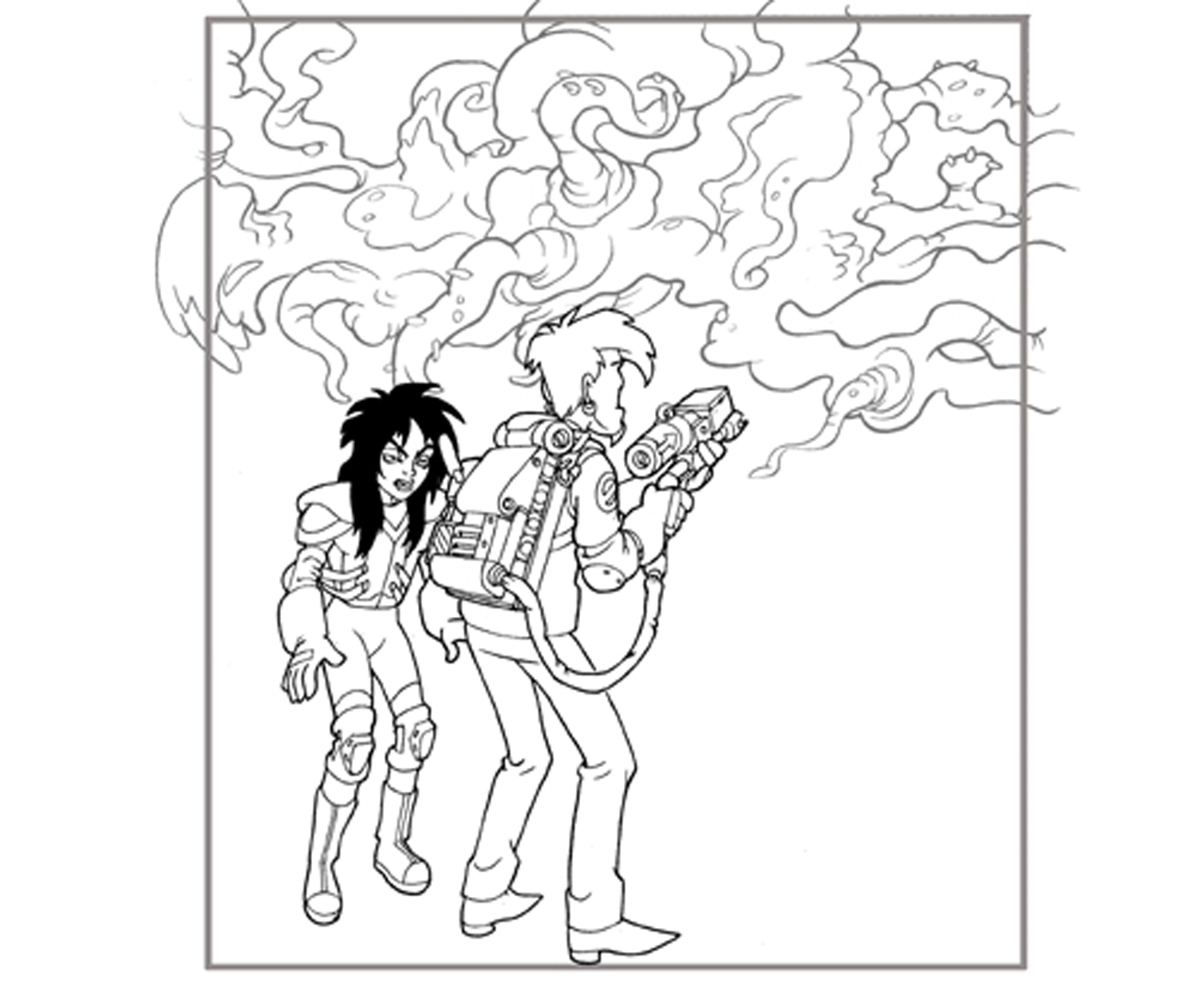 1397x1142 Perkins Coloring Pages Extreme Ghostbusters Page