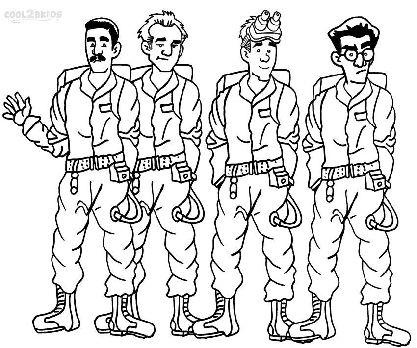 850x710 Printable Ghostbusters Coloring Pages For Kids