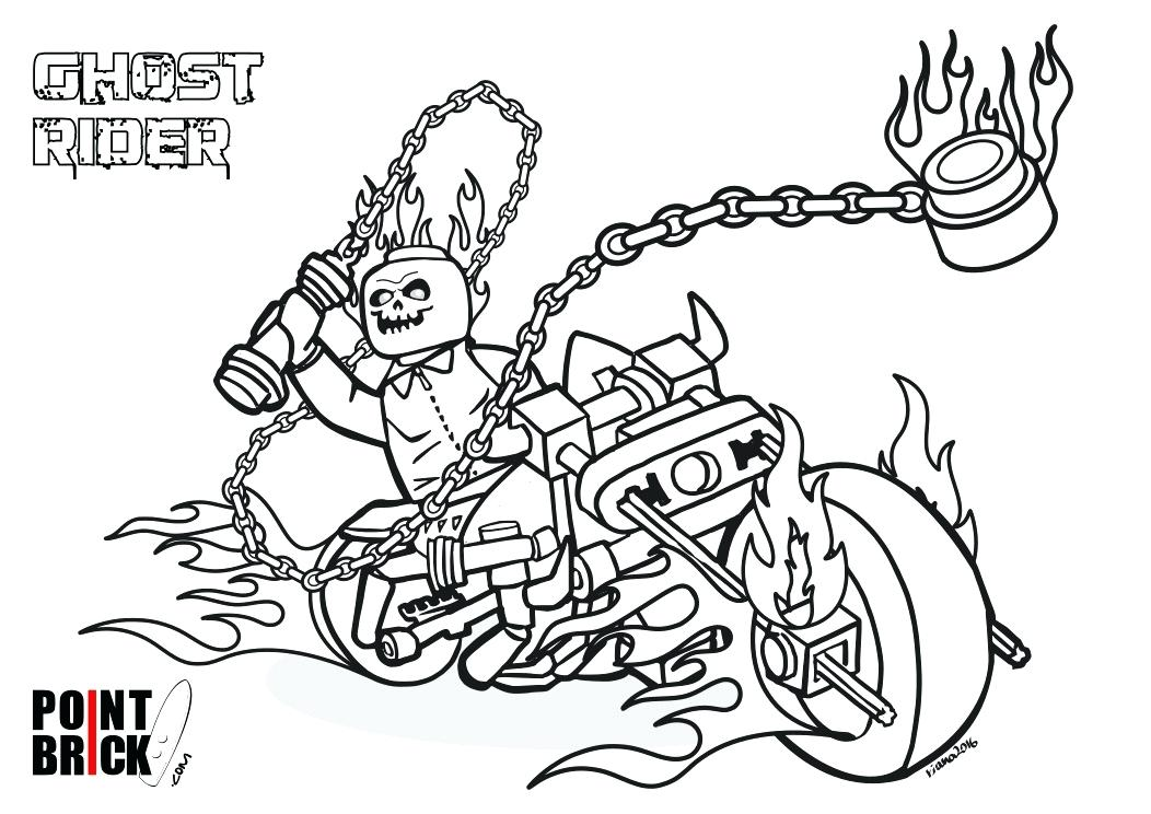 Ghost Rider Coloring Pages At Getdrawings Com Free For