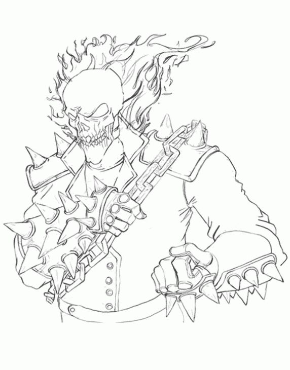 Ghost Rider Coloring Pages at GetDrawings   Free download