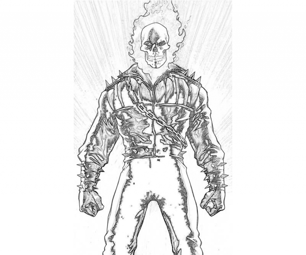 Ghost Rider Coloring Pages At Getdrawings Com Free For Personal