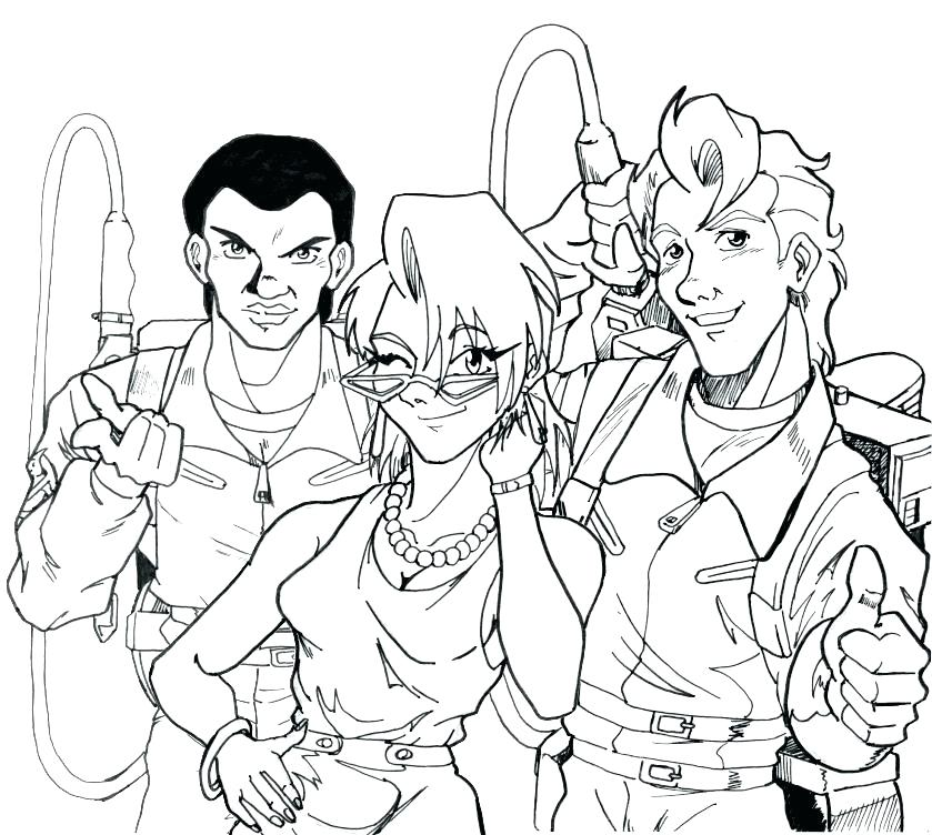 839x752 Ghostbuster Coloring Pages In Fact One Of The Best Parts No