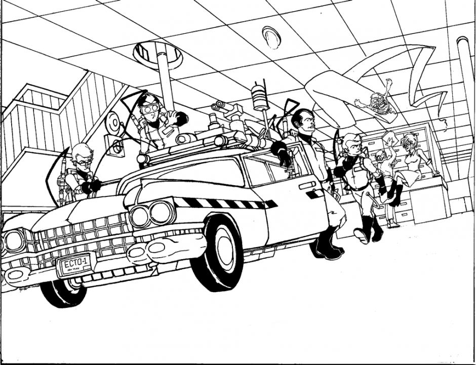 940x721 Ghostbusters And Ecto Coloring Page Ghostbuster Posters