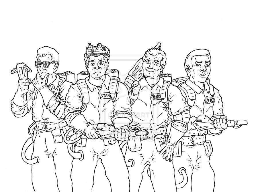 900x671 Ghostbusters Coloring Pages