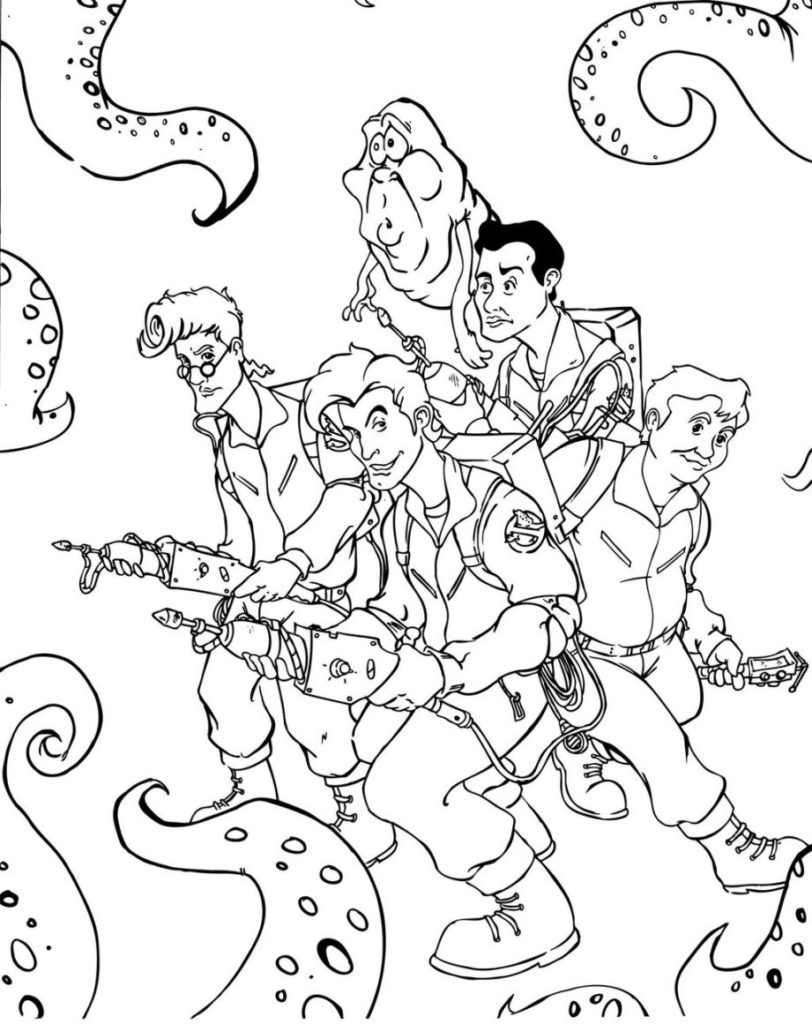 812x1024 Awesome Ghostbusters Coloring Page Coloring Pages Free Coloring
