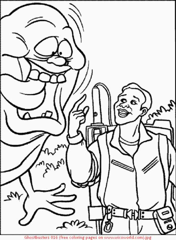 600x817 Ghostbusters Coloring Pages Free