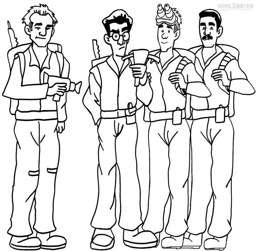 850x829 Printable Ghostbusters Coloring Pages For Kids