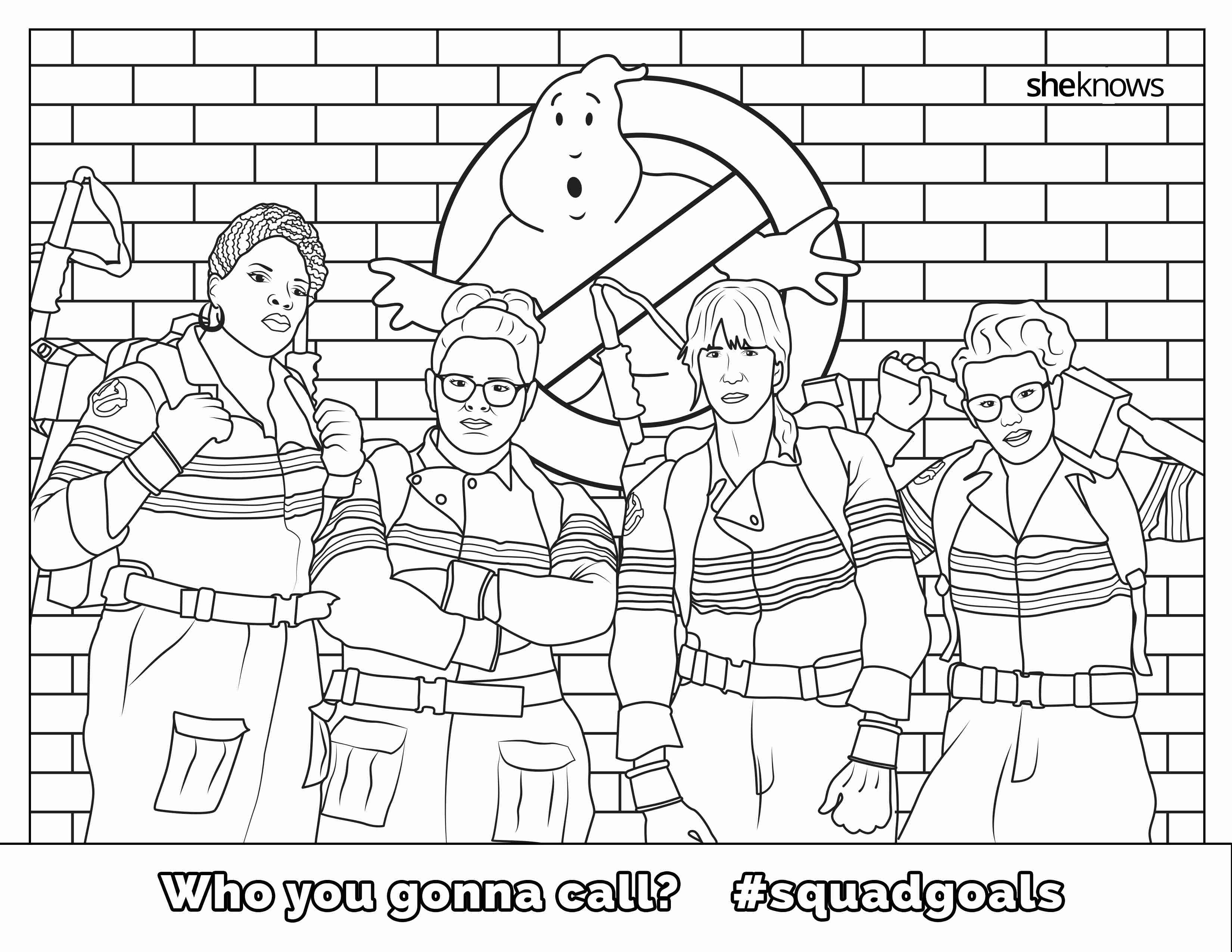 3300x2550 Free Printable Ghostbusters Coloring Pages For General Kids