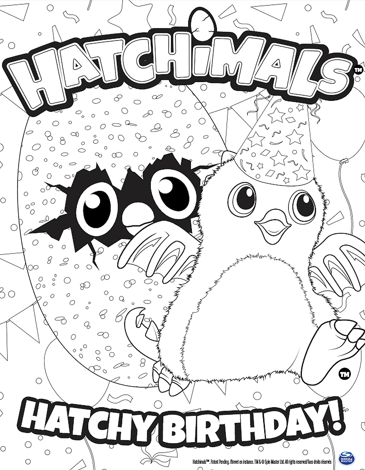 1402x1804 Best Of Hatchimals Hatchy Birthday Coloring Page The Picture To Go