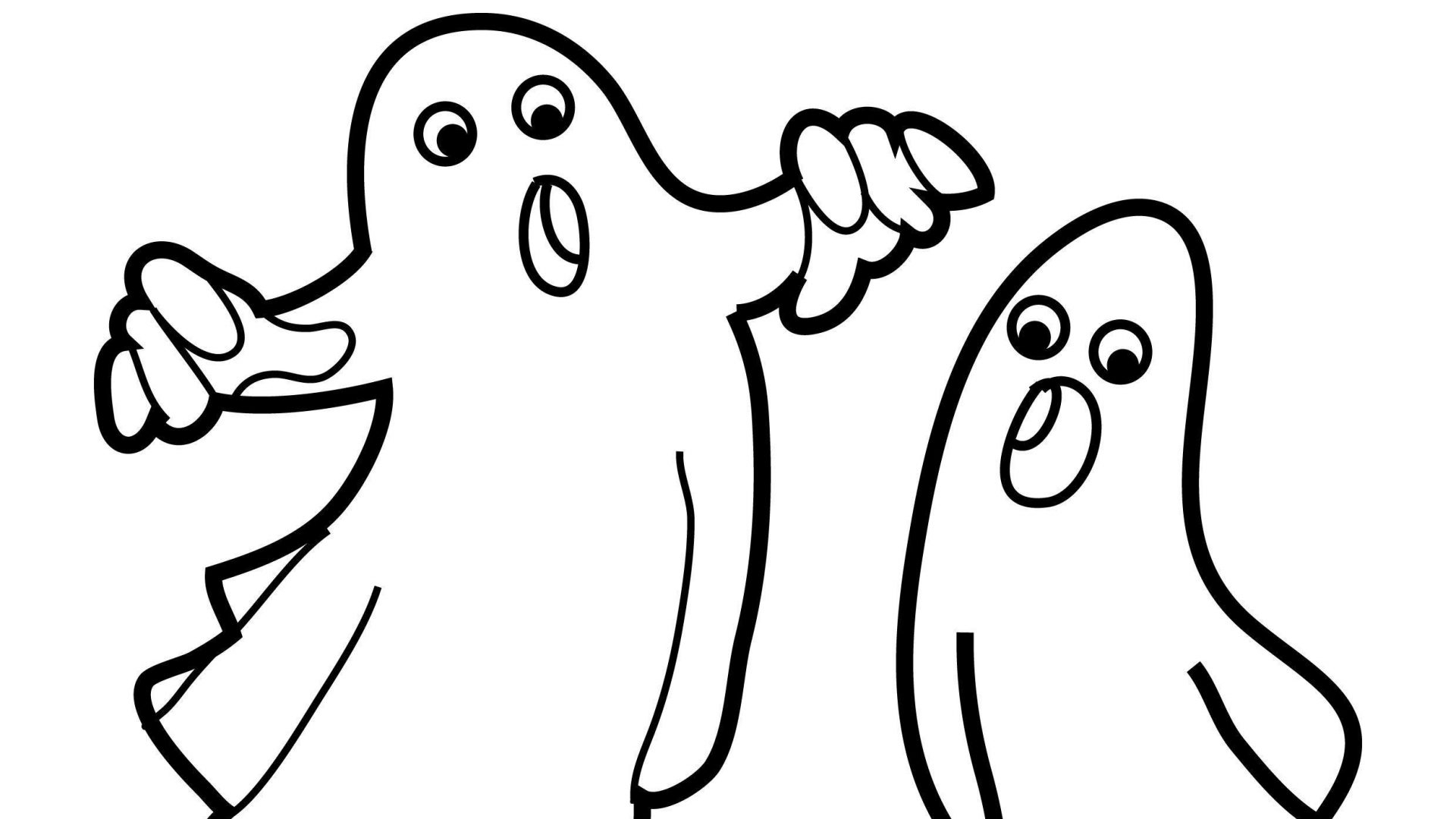 1920x1080 Coloring Pages Of Ghosts Collection
