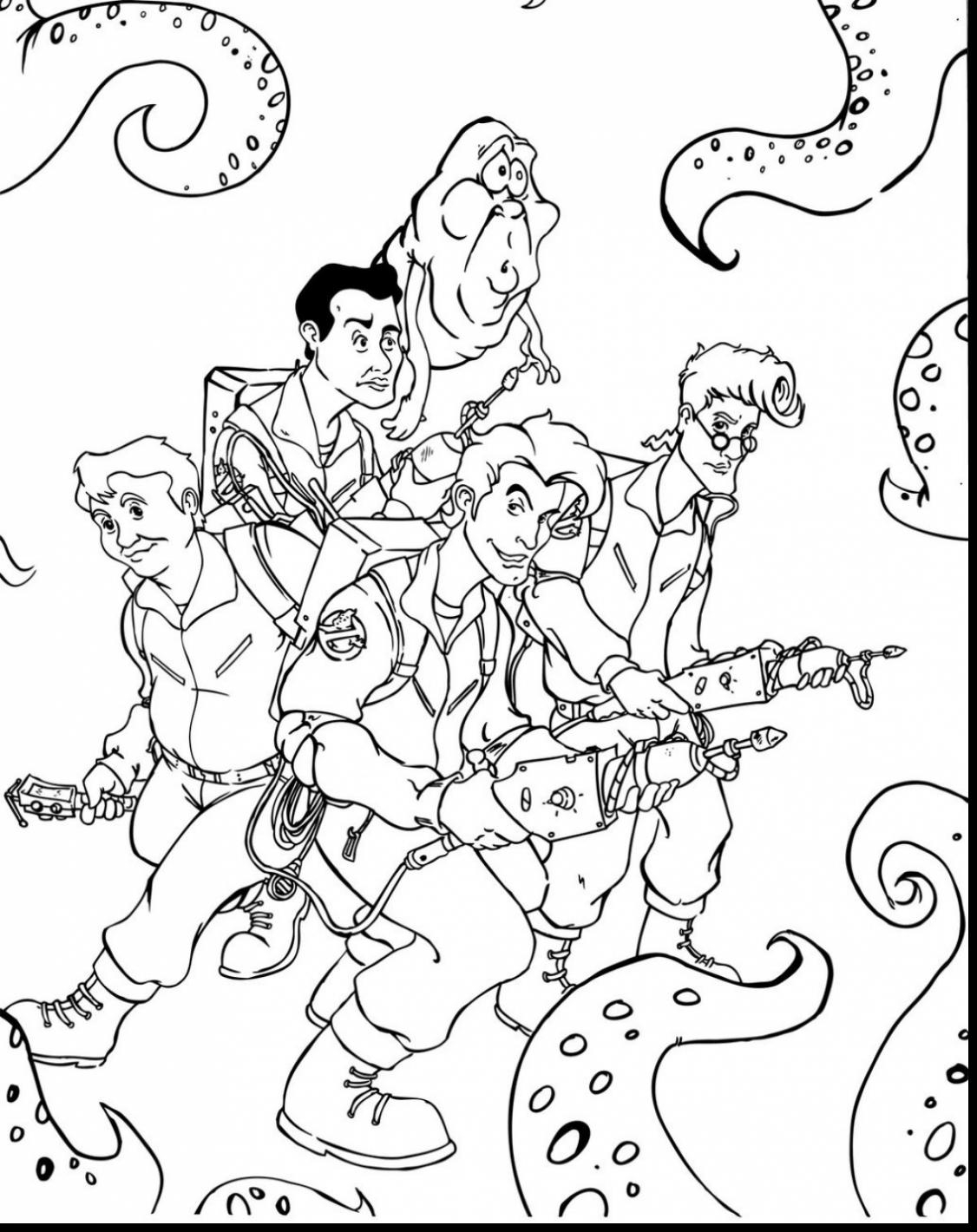 Ghostbusters Slimer Coloring Pages