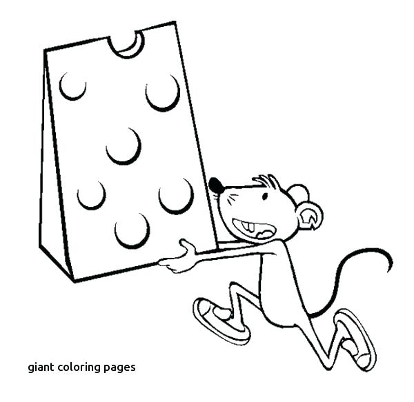 600x583 Giant Coloring Page Mice Carrying A Big Cheese Coloring Page