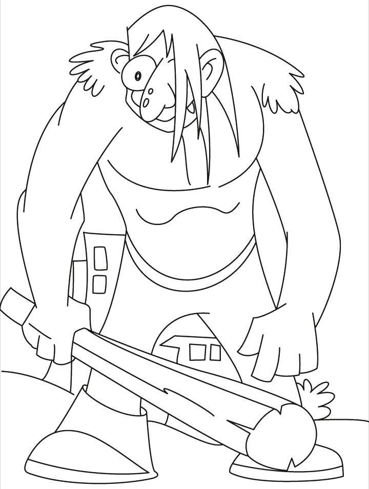 720x954 Giant Coloring Pages This Giant Really In A Bad Mood Coloring
