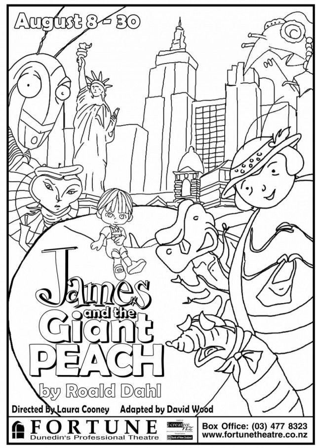 640x909 James And The Giant Peach Colouring Pages Giant Coloring