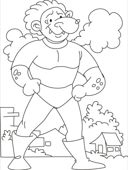 420x556 Come, Test Your Strength Says The Tarzan Giant Coloring Pages