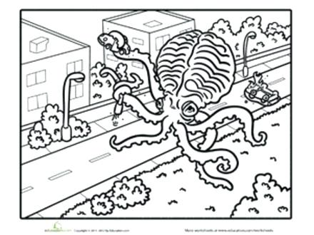 440x330 Squid Coloring Pages Giant Squid Coloring Pages Giant Squid