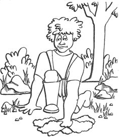236x279 Bible Coloring Pages God Chooses Gideon Children's Church Ideas