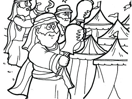 440x330 Gideon Coloring Pages Bible Story Coloring Pages For Preschoolers