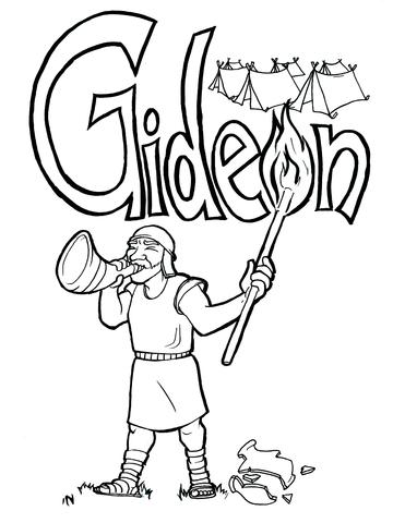 371x480 Gideon Coloring Page Children's Ministry Deals