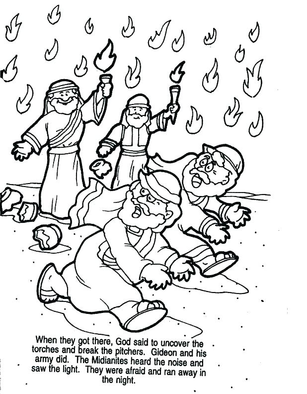 618x792 Gideon Coloring Pages Coloring Pages Story Of Coloring Pages
