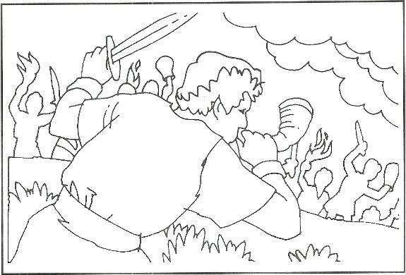 575x390 Gideon Coloring Pages Coloring Sheet Of Coloring Pages Bible