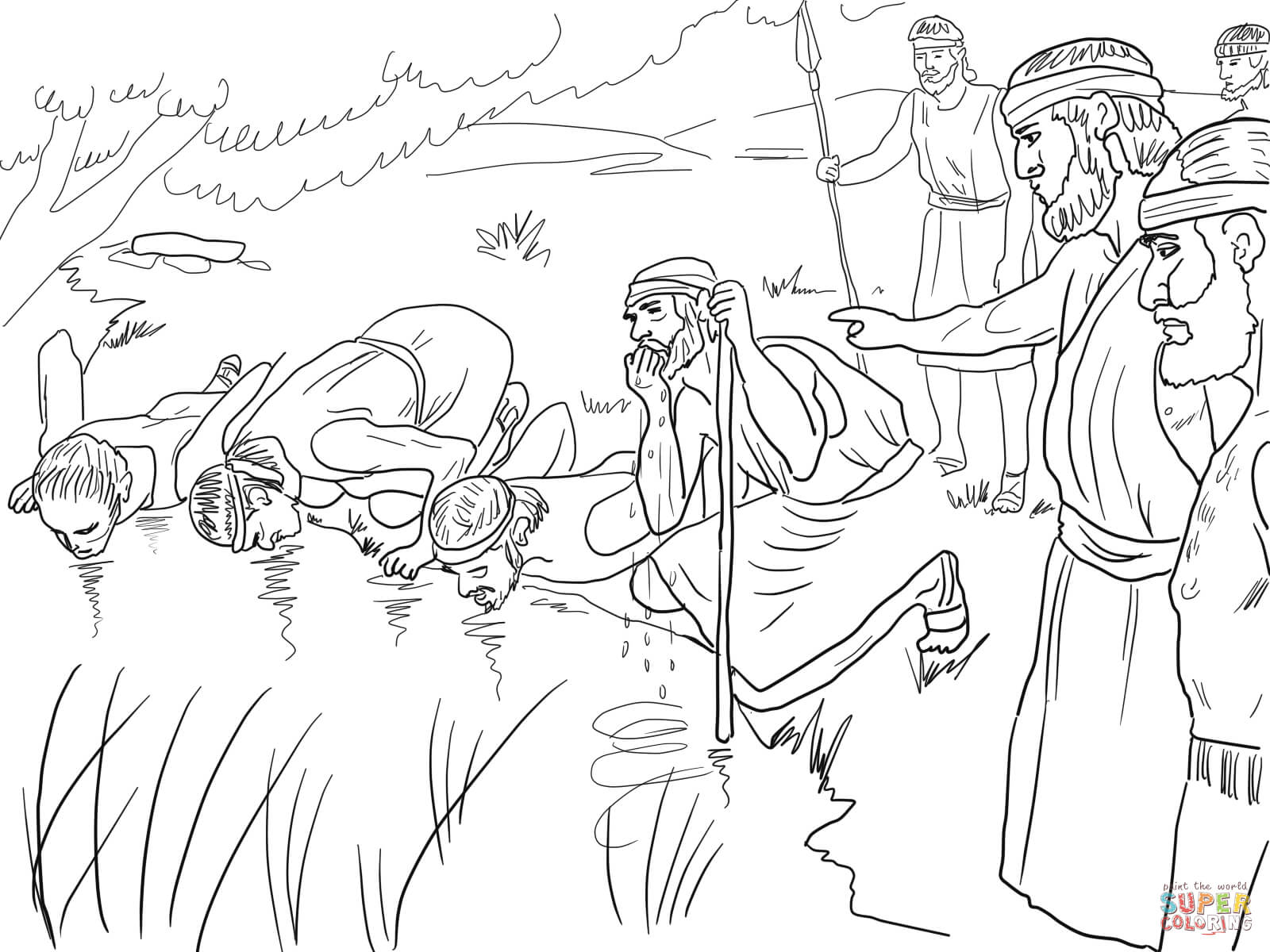 1600x1200 Gideon Coloring Pages Preschool To Fancy Page Paint Kids