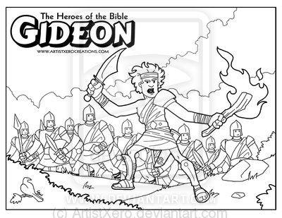 400x309 Free Printable Bible Coloring Page Of Gideon Gideon Coloring