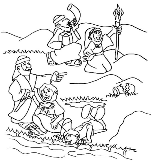 608x644 Gideon Coloring Page Judges Gideon For Kids