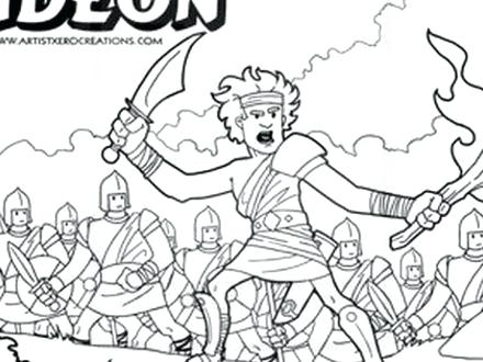 440x330 Gideon Coloring Page Amazing Printable Coloring Pages Contemporary