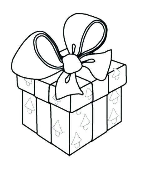 458x540 Christmas Gift Coloring Pages Free Presents Page Tags Present