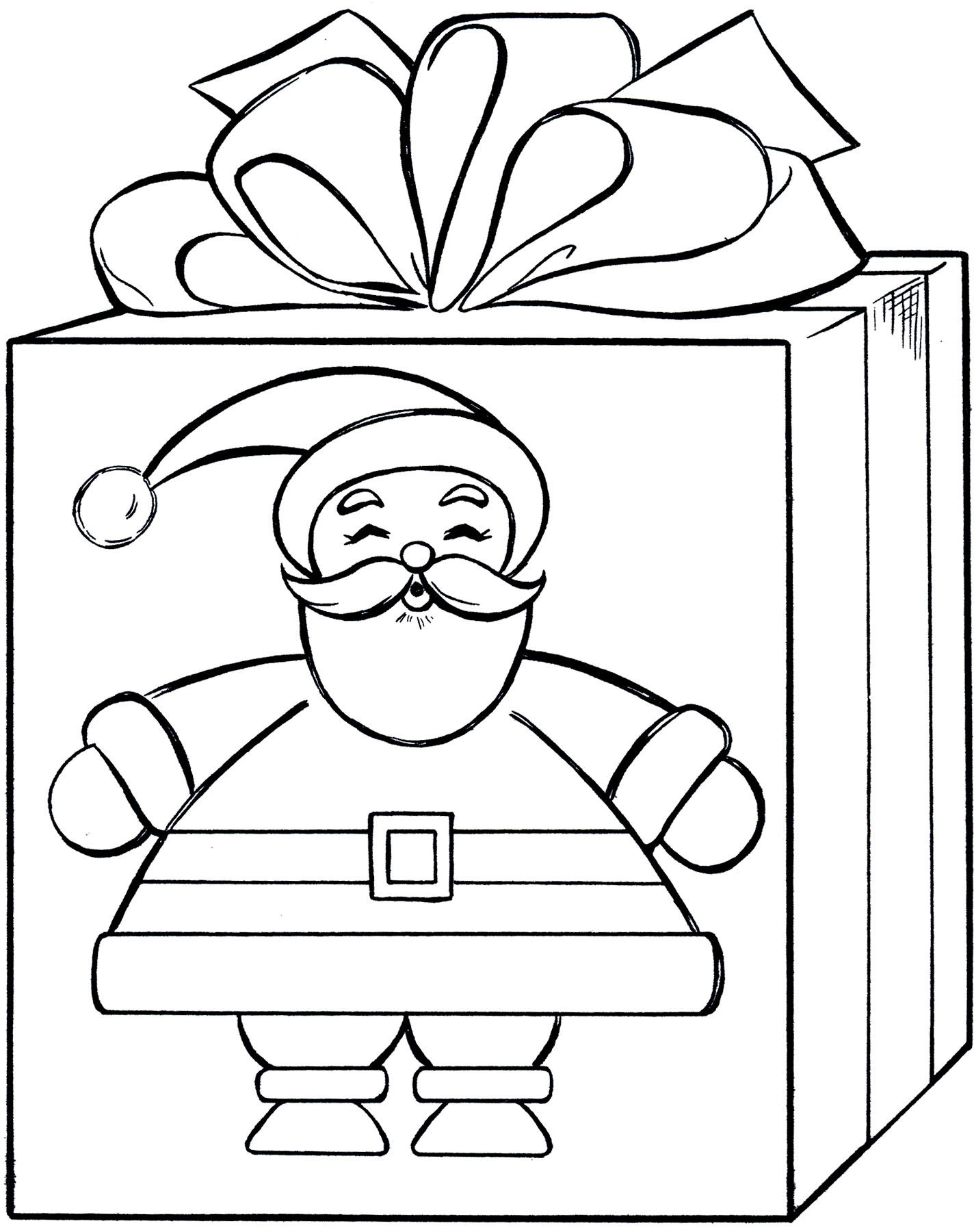 1424x1800 Christmas Gifts Coloring Pages Free Showy Gift Page Tixac