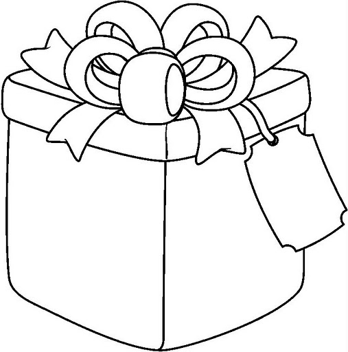 507x512 Gift Box Coloring Page