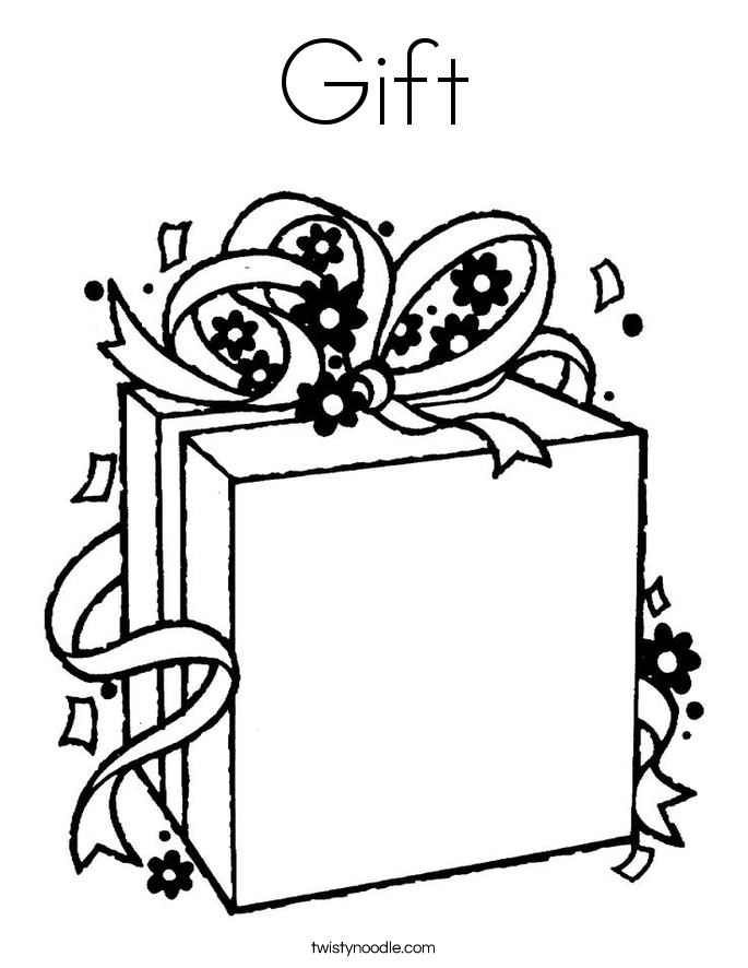 685x886 Gift Coloring Page