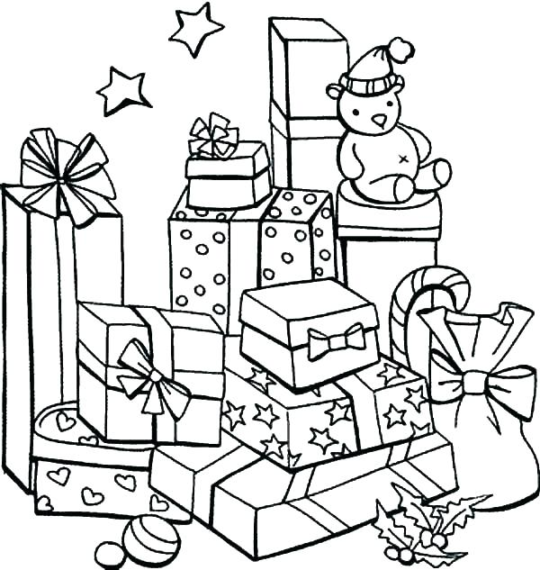 600x633 Present Coloring Page Gift Coloring Page Present Coloring Pages
