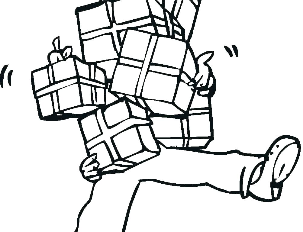 1003x768 Present Coloring Page Or Present Coloring Page Big Presents