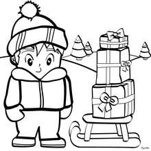 220x220 Teddy Bear On Gift Box Coloring Pages