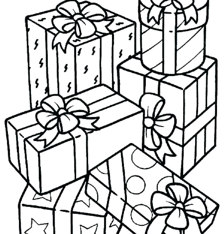 768x800 Gifts Coloring Pages Coloring Ideas Pro