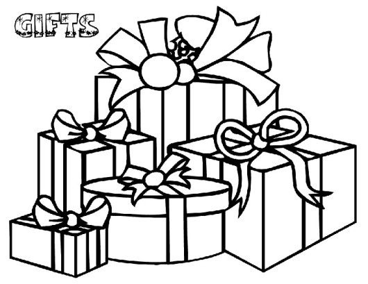 530x409 Children Christmas Gifts And Christmas Tree Christmas Coloring