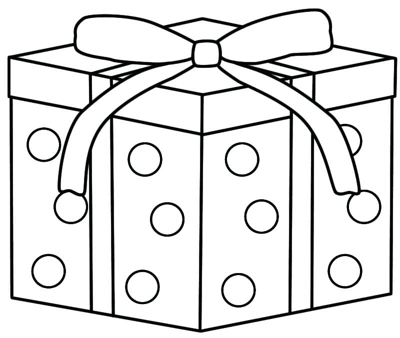 800x677 Christmas Gift Coloring Page Free Coloring Page
