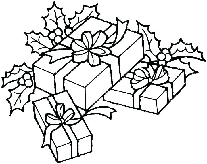720x569 Christmas Gift Coloring Page Children Opening Gifts Colouring Page