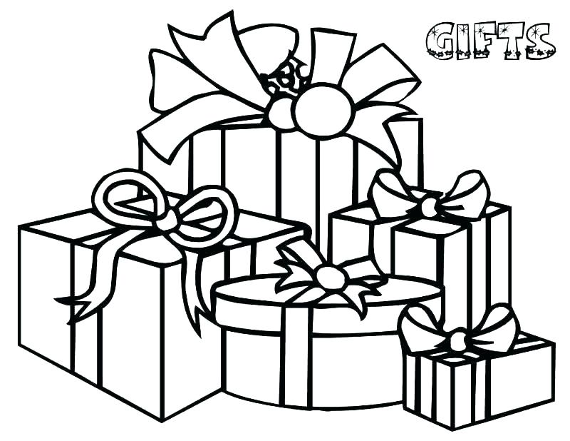 800x618 Christmas Gift Coloring Page Mickey Holding A Bunch Of Gifts